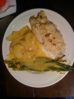 Tilapia, Scalloped Potatoes, Asparagus