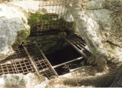 Gate on Kickapoo Cavern State Park, south Texas.
