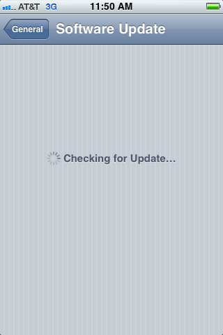 Step 3: Wait for your iPhone to check for any available updates.