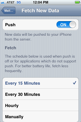Turn off your Push settings and switch the Fetch to Manually.