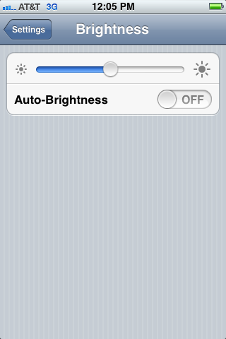 Lower your brightness settings.