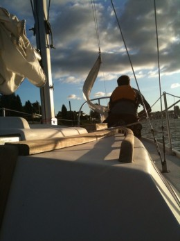 Small sailboats are easier to learn on and will be more enjoyable for a novice sailor!