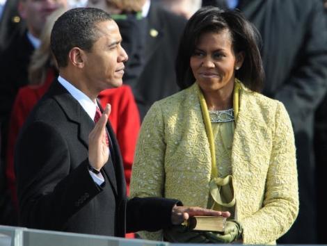 Obama taking oath