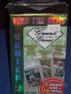GEMS of the Game Football box review.