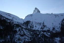 Alpine Panorama, the Lady Matterhorn peak - view from Riffelberg Express Gondola, Wallis, Switzerland