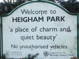 Entering Heigham Park