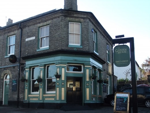 The Garden House Pub, Denbigh Road - as its name would suggest, it has a large beer garden at the rear.