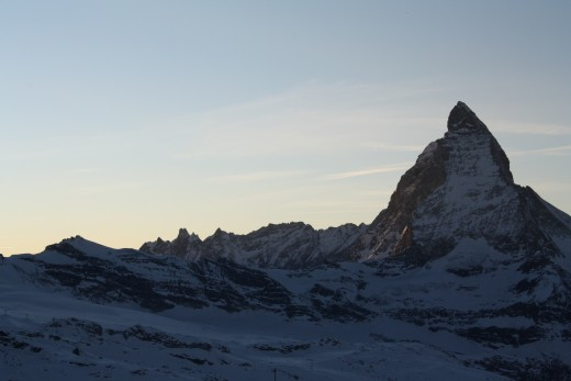 Alpine Panorama view from Gornergrat - Lady Matterhorn, Wallis, Switzerland