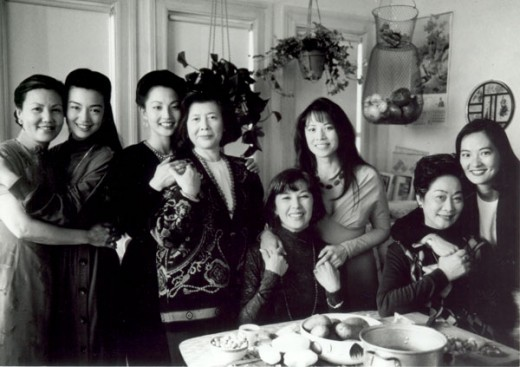 "The cast members of the award-winning film ""The Joy Luck Club"" (1993)."