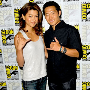 "Grace Park and Daniel Dae Kim promote their hit show ""Hawaii 5-0"""
