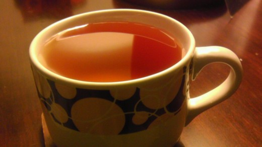 A cup of Hot Rooibos Tea