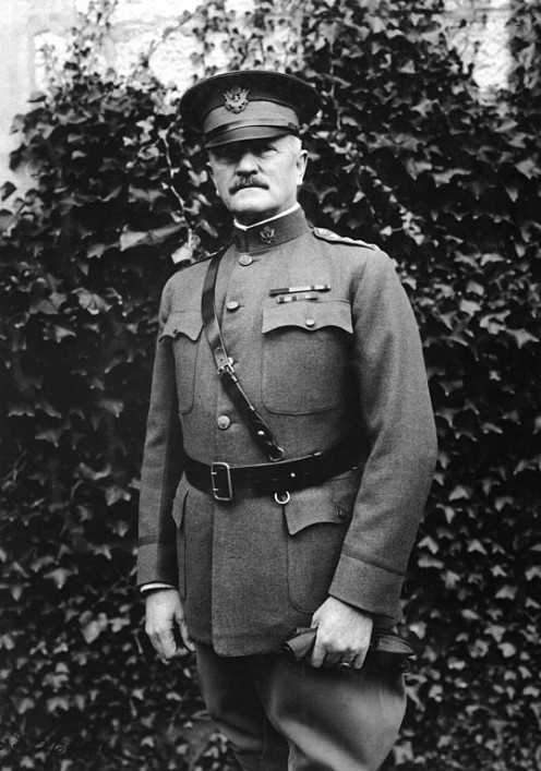 WW1: General John Pershing. General Headquarters, Chaumont France. 19 October 1918