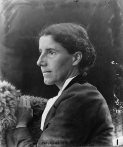 Charlotte Perkins Gilman (c. 1900) [Copyright has expired] (July 3, 1860-Aug. 17, 1935)