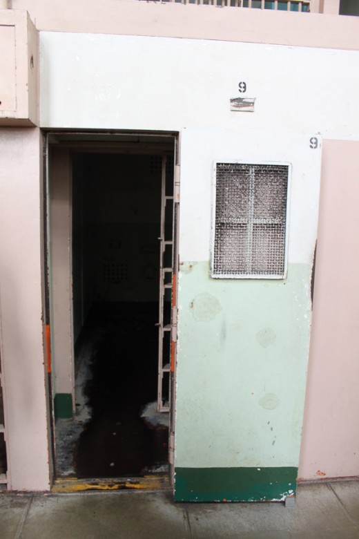"Solitary confinement, or ""The Hole"""