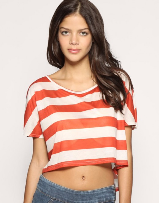 Nautical look Crop Top