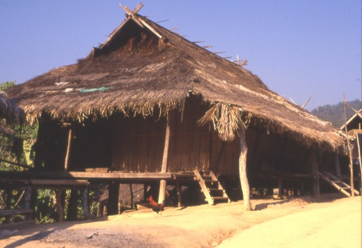Typical Akha village house