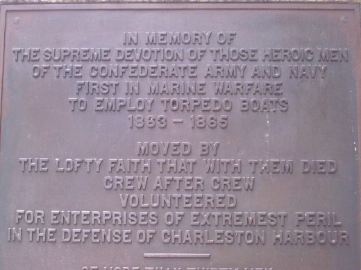 Monument to Confederate soldiers in Charleston Harbor