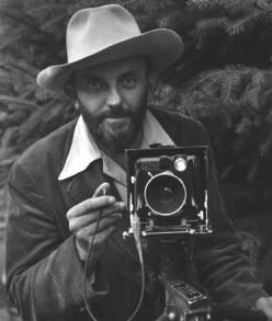 This image of Ansel Adams also depicts the damage his nose received as a child when he took a fall during an aftershock of the tragic earthquake in California of 1906 when he was only 4 years old.  This made him self-conscious as a young boy.
