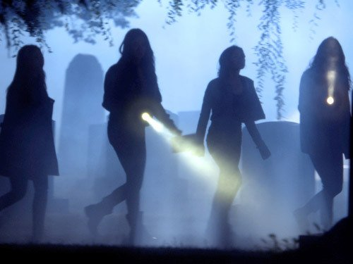 "The girls search for a killer's identity on ""Pretty Little Liars."""