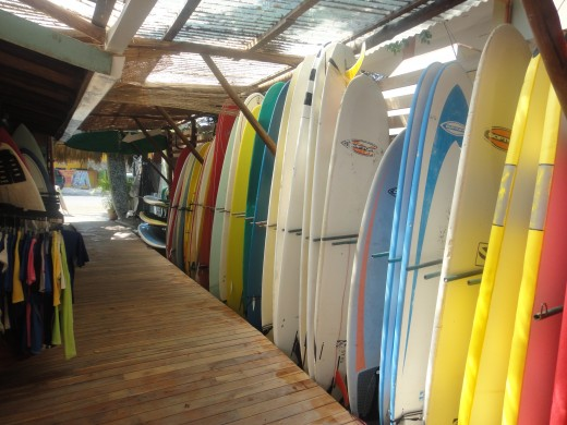 Entrance to Blue Trailz Surf Hostel, Tamarindo, Costa Rica
