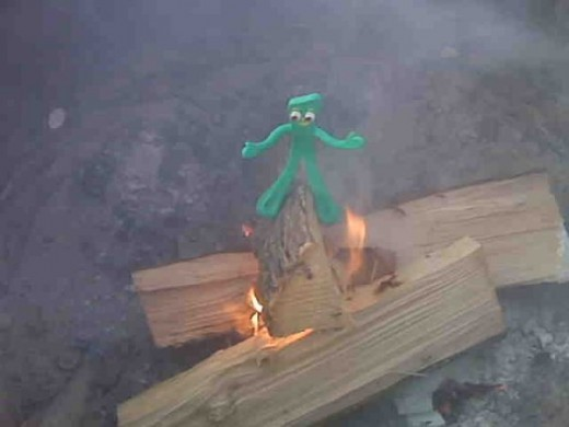 The amazing Gumby doing the Fire Walk