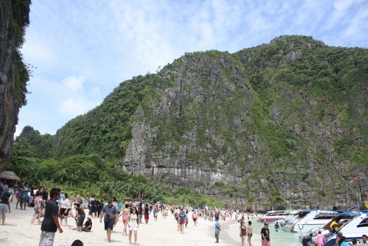 Lots of tourists come to Maya Bay, so if you're looking for seclusion, you won't find it here!