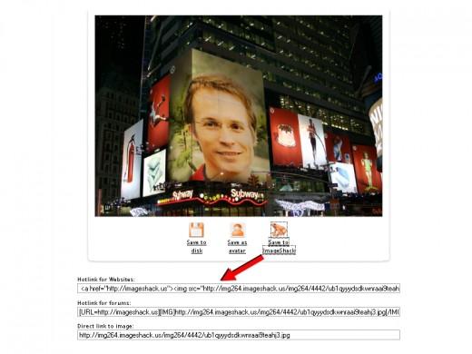 Links to ImageShack