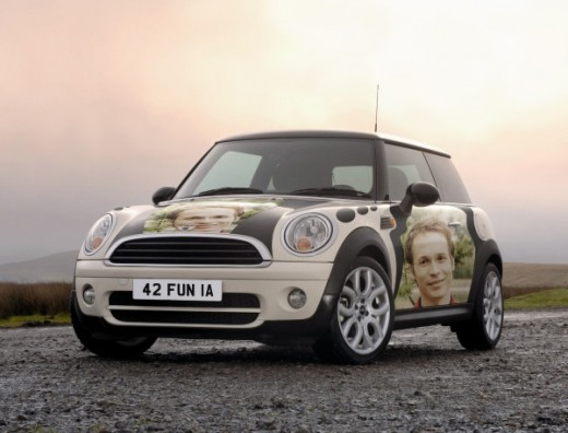 Cool wheels with your proud photos embracing its body!
