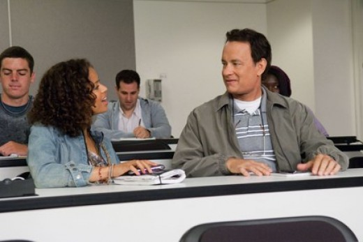 """Hanks makes a new friend in """"Larry Crowne."""""""