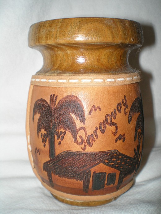 Guampa made of palo santo