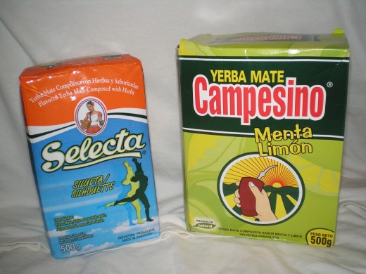 Different brands of yerba