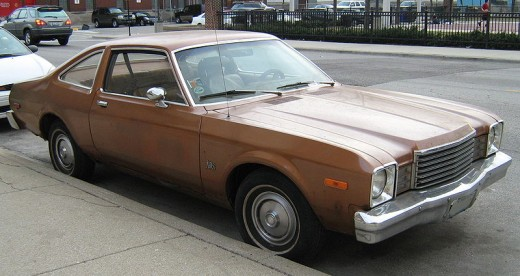 Dodge Aspen.  The one we owned when I was a kid was green and had been used by a fishmonger as a truck.  We never did get the stench out of the trunk.