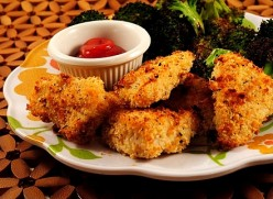 Homemade Chicken Nuggets Recipe for Kids, Baked with Delicious Dips