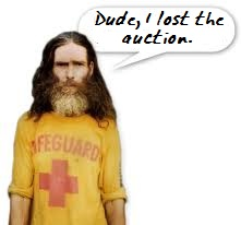 Bud loses the penny auction and $2.50.