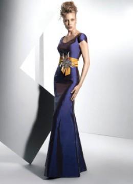 Madre elegante del vestido de la novia