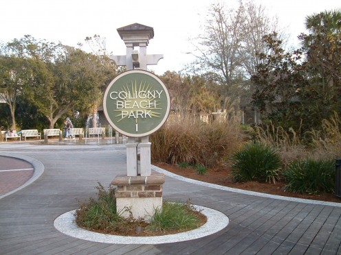 Coligny Beach Park entrance at 1 Coligny Circle.