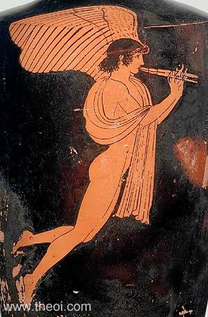 Eros with a double flute