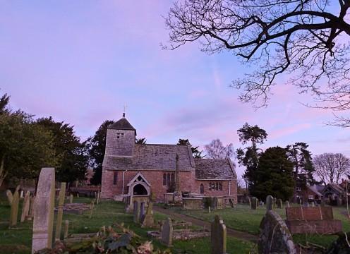 Our local Church at sunrise.