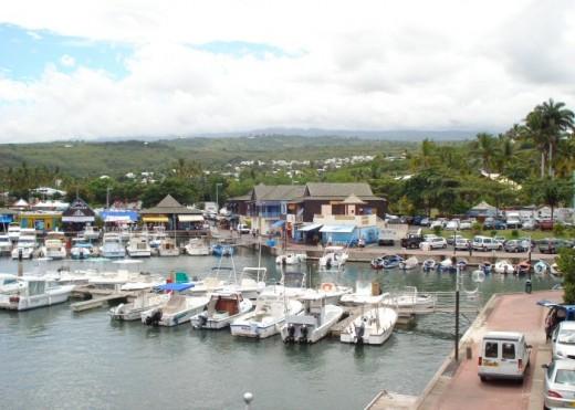 St Gilles-les-Bain harbour.