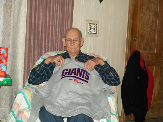 Dad loves the Giants