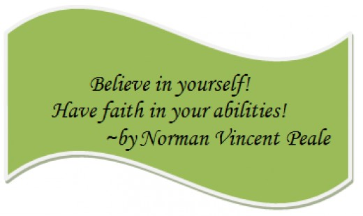 Believe in Yourself Quote by Norman Vincent Peale