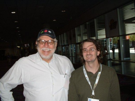 Doug Berry and Nolan Bushnell at the AMOA tradeshow, 2003.