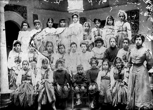 Tripoli, 1905, an Alliance Israelite Universelle girls' school