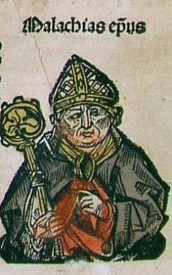 Saint Malachy-Woodcut-Nurenberg Chronicles, 1493 A.D.