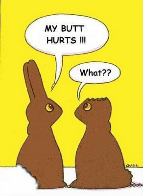 Fact: When eating chocolate Easter bunnies, 76% of Americans start at the ears!