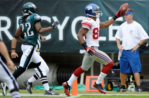WR Victor Cruz during his big performance against the Eagles