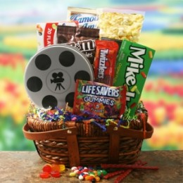 Movie gift basket from All About Gifts & Baskets