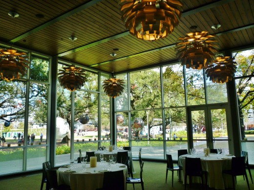 Private room in the back at The Grove restaurant