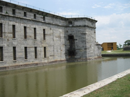 Exterior right side with moat.
