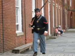 Re enactor during my July Day Trip.